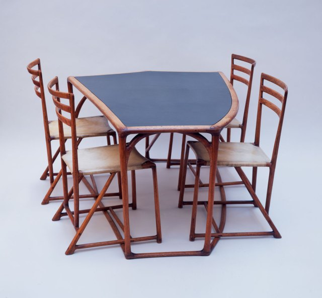 Wharton Esherick, Dining Table and Four Chairs,1940. Courtesy of Jack Lenor Larsen, Leonard Nones photograph