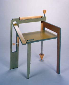 Thomas Loeser, Folding Chair, 1988. Courtesy of Museum of Art, Rhode Island School of Design, Erik Gould photograph