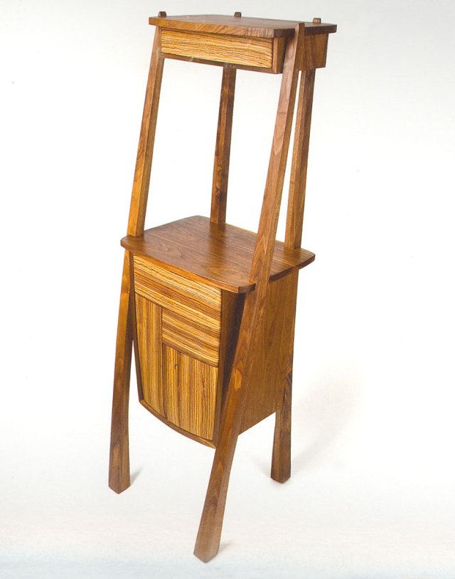 Nori Lar Wechsler, Expecting, 2005-2006. Walnut and Zebrawood, solid wood deduction, Ken Yanoviak photograph