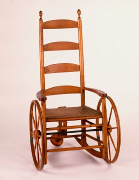 Shaker Community Wheelchair, c. 1825. Courtesy of Watervliet NY Shaker Museum and Library Old Chatham and New Lebanon NY