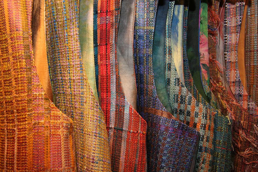 Randall Darwall, Handwoven vests. Jennifer Gerardi photograph