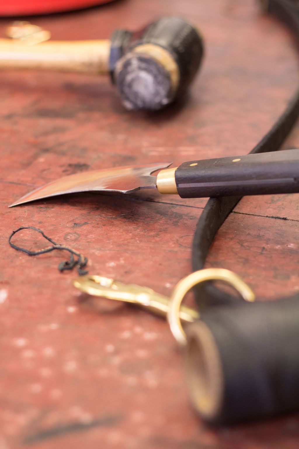 Leather tack and tools, Mark Markley photograph