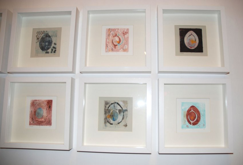 Christina Carroll, By the Dozen: A Study of the Egg, 2013. Print-based mixed media