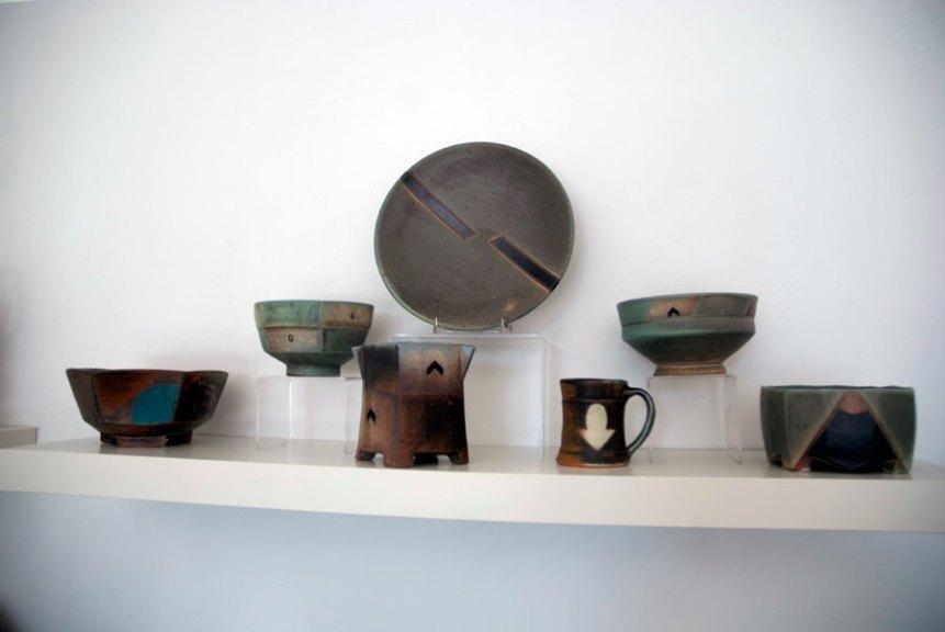 Jeff Oestreich, Plates, Bowls, Mugs, Madison Metro photograph