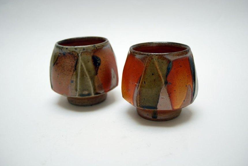 Micki Schloessingk, Teabowls. Wood fired, salt glaze, Madison Metro photograph