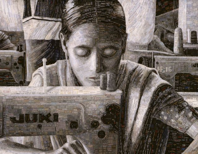 Terese Agnew, Portrait of a Textile Worker, 2005