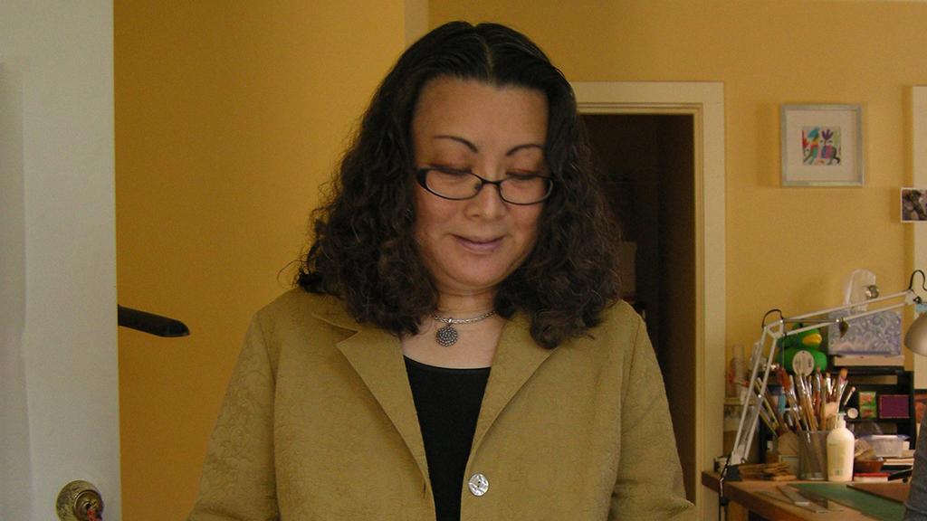 Julie Chen in her studio