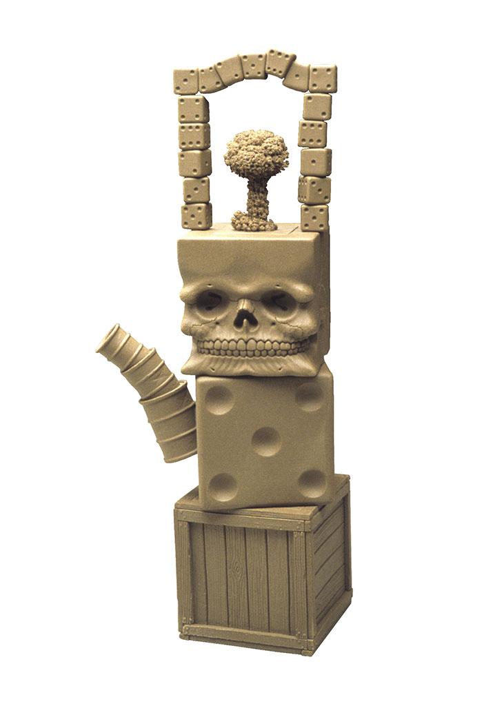 Richard Notkin, Cube Skull Teapot (variation #23), Yixing Series, 2000, Rchard Notkin Photograph