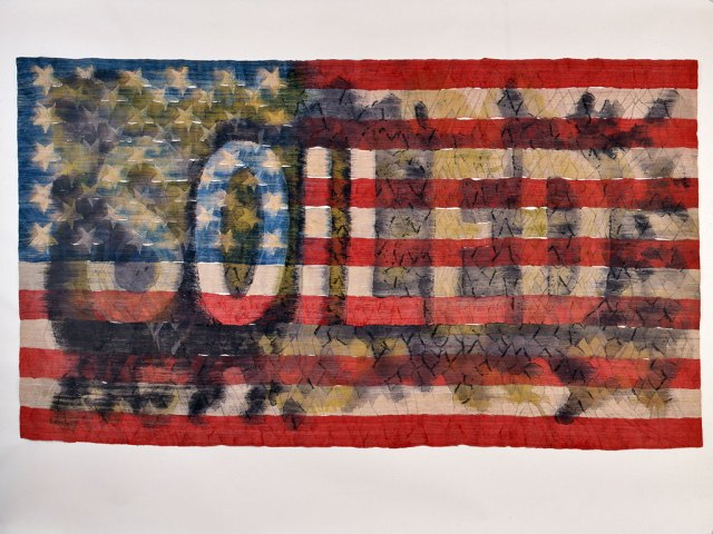 Jim Bassler, Old Glory. Andrew Neuhart photograph, Craft in America
