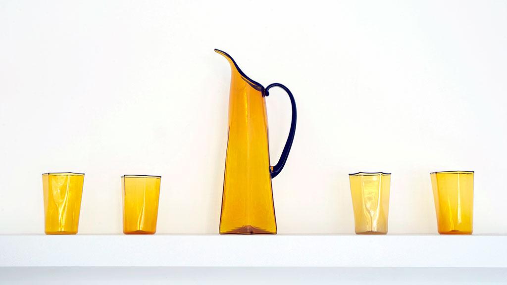 Pamina Traylor, Honeycomb Decanter and Glass Set