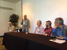 "The ""Masculine Mystique"" panel (from left to right): Gerhardt Knodel, Jim Bassler, Michael Rohde, Ben Cuevas, Joe Cunningham"