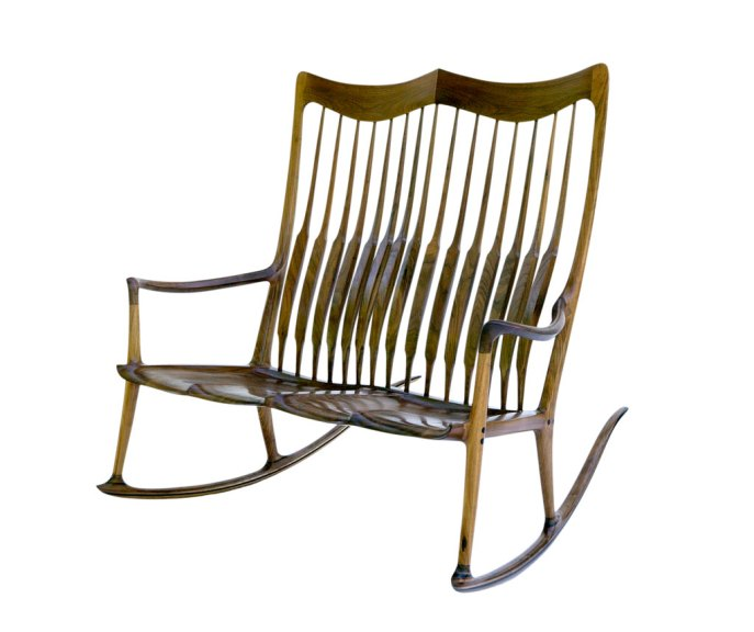 Sam Maloof, Double Rocker, 1996. Gene Sasse photograph
