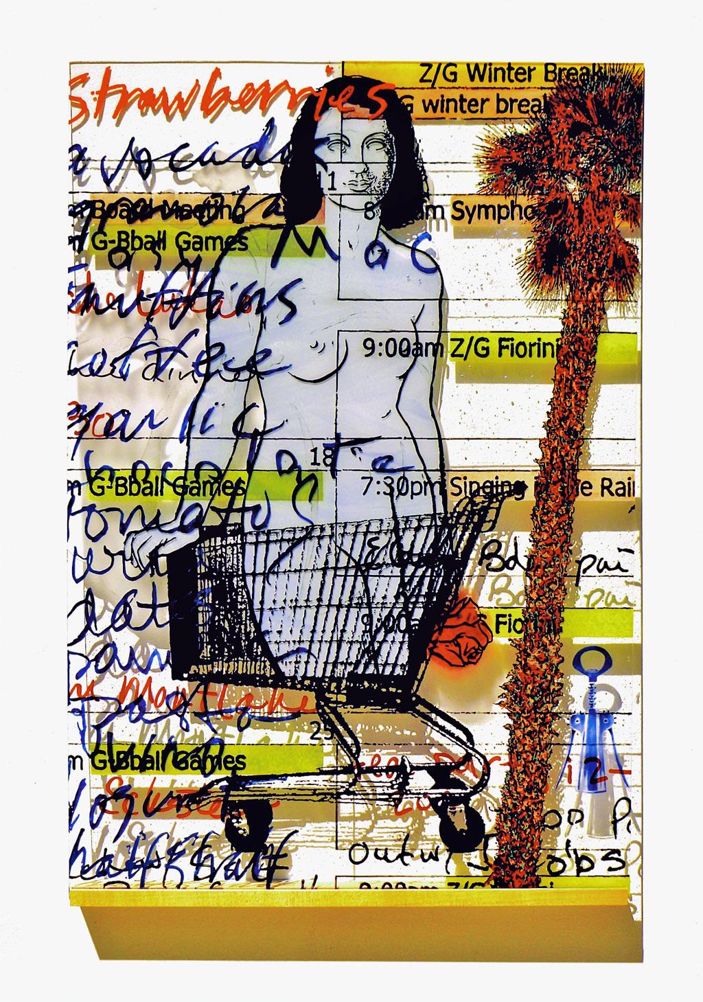 Susan Stinsmuehlen-Amend, Grocery Nude To-Do (Calendar Girl)