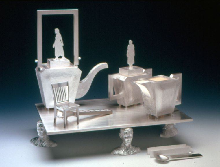 Christina Smith, In Search of Terra Incognito, tea service, 2002. Anthony Cuñha photograph
