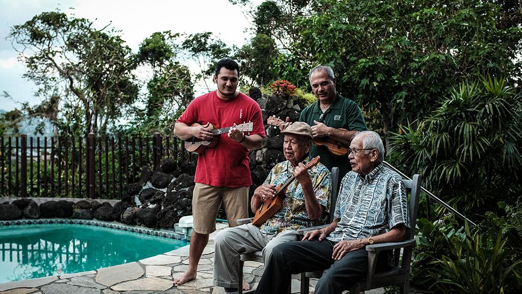 The Kamaka family plays together