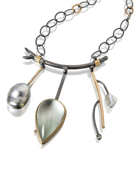 Sydney Lynch, Aquamarine Branch Necklace