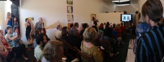 The Center was full for Maruyama's Artist Talk and the California Masters Opening