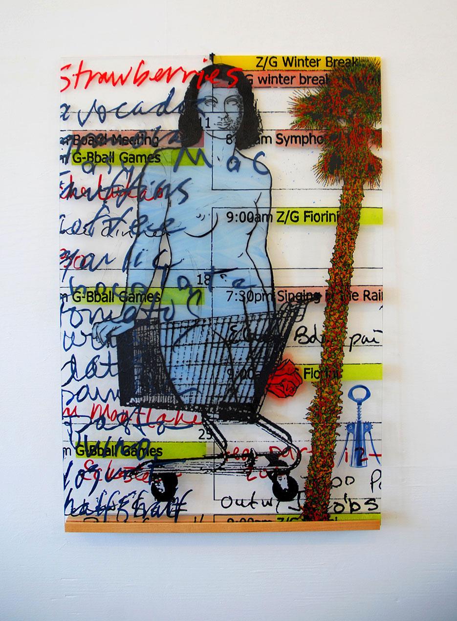 Susan Stinsmuehlen-Amend, Grocery Nude To-Do (Calendar Girl), 2013