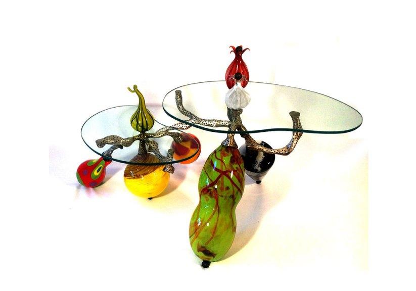 Gini Garcia, Handblown and Flat Glass Table