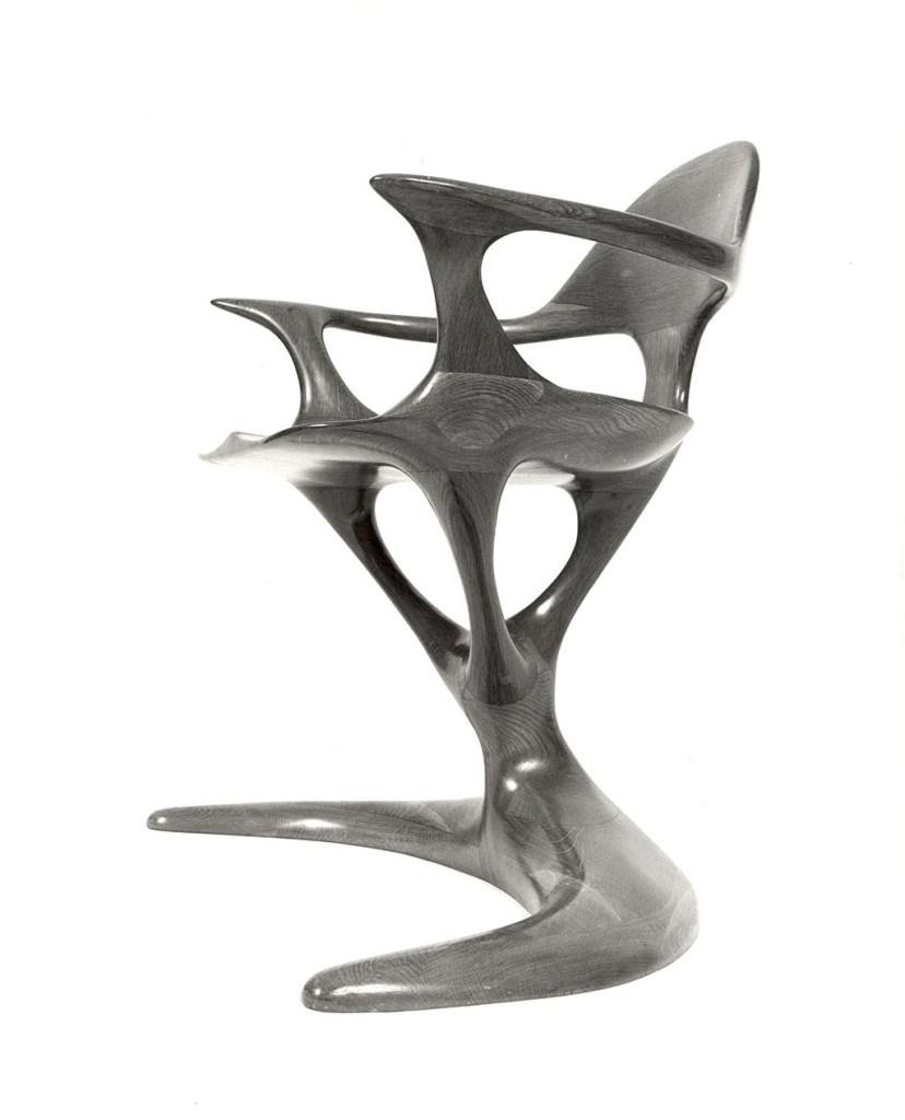 Frank E. Cummings III, Oak Chair, 1971, Craft in America