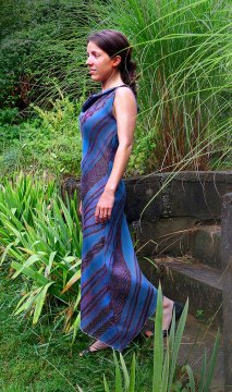 Libby O'Bryan, Blue Shibori Dress