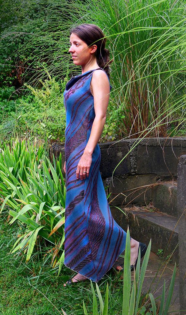 Libby O'Bryan, Blue Shibori Dress