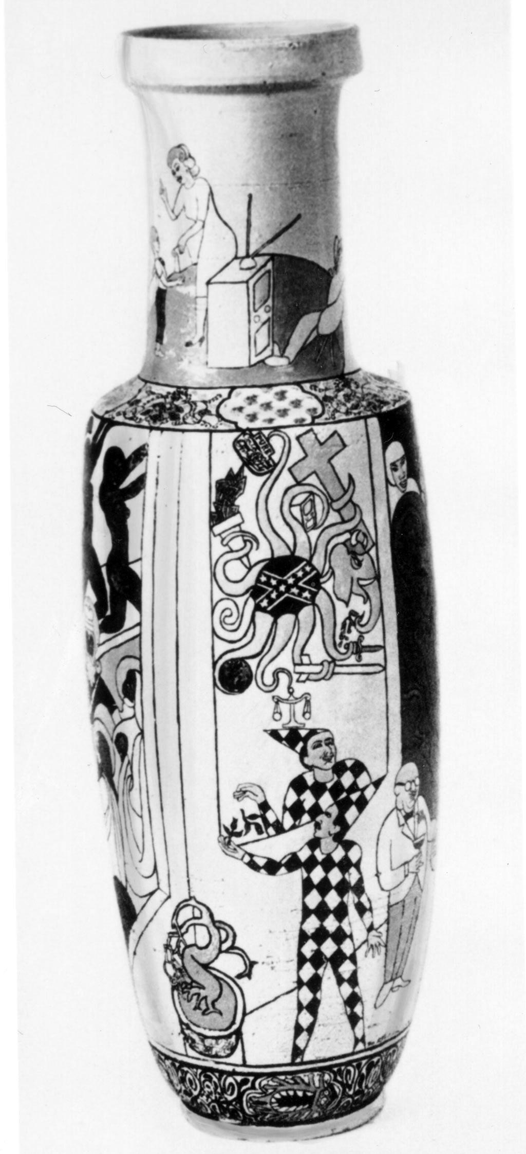 Tall vase by Michael Frimkess, c. 1966