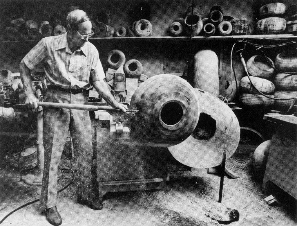 Ed Moulthrop at work in his studio