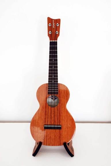 Kamaka Ukelele, Concert ukulele, 2015, koa, rosewood, mother-of-pearl inlay