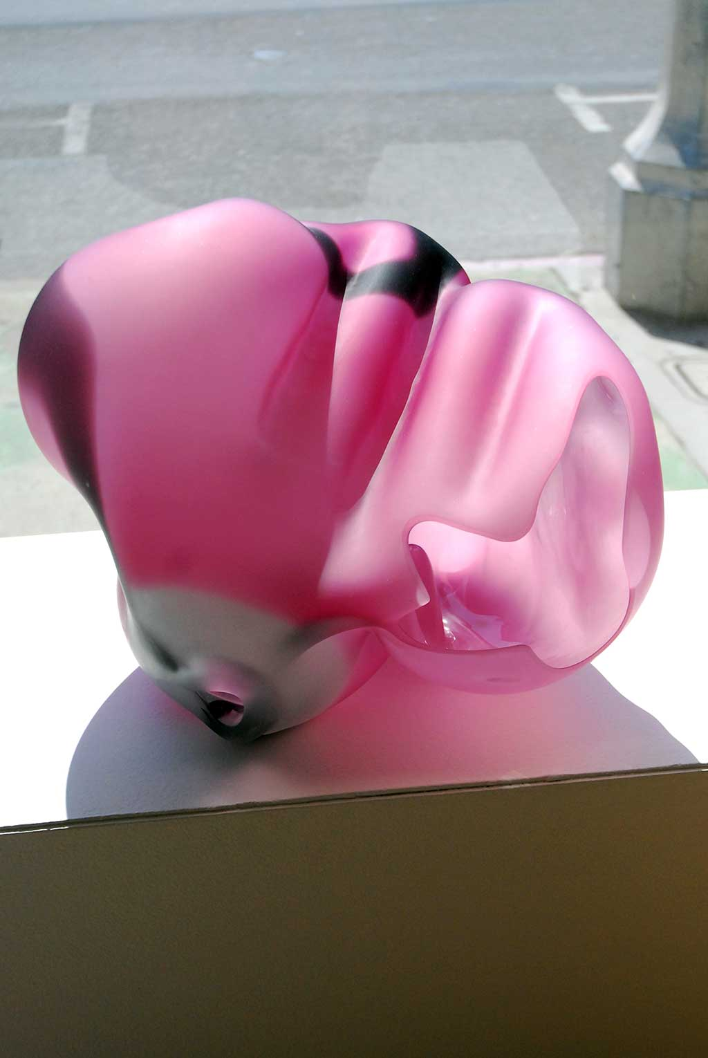 Marvin Lipofsky, California Color Series 1986 #7, 1986. Mold blown glass, cut, sandblasted, acid etched