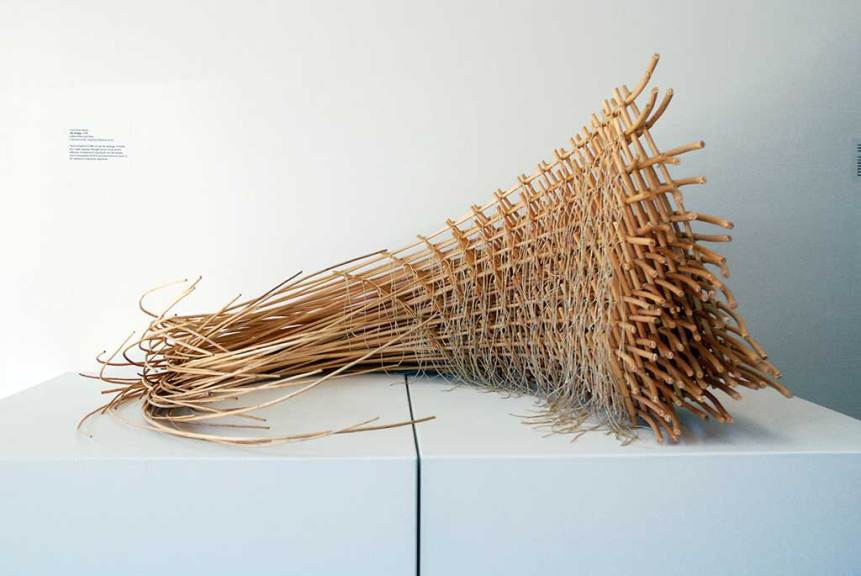 Carol Shaw-Sutton, The Bridge, 1998. Lashed willow and linen.