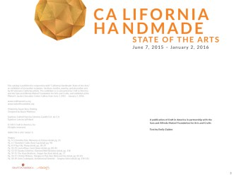 California Handmade: State of the Arts, 2015 - title page