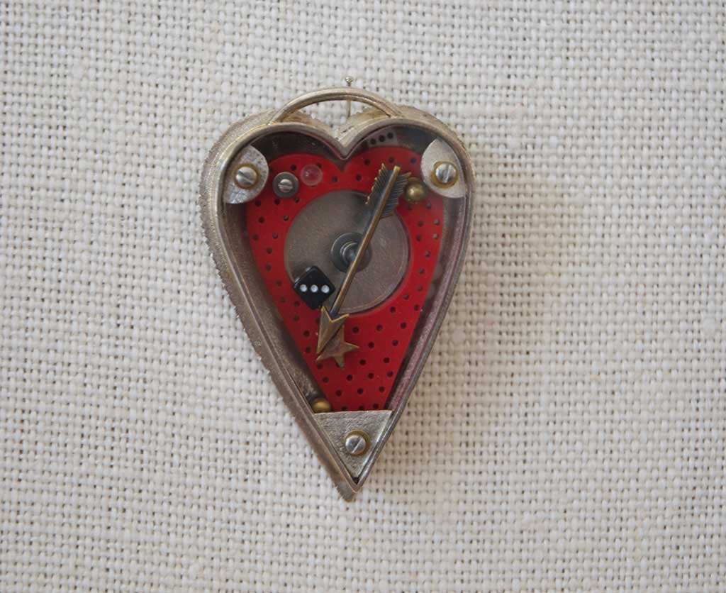 Thomas Mann, Container Heart Pin, 2005