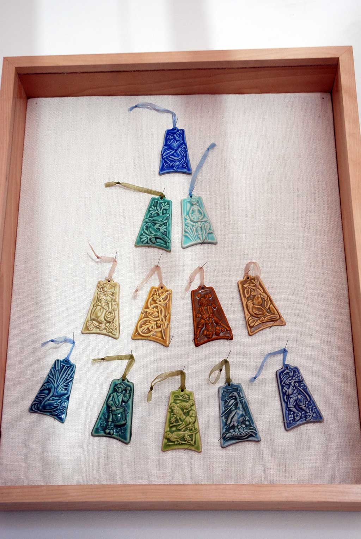 Pewabic, 12 Days of Christmas ornaments