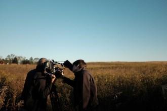 Filming an Iowa City prairie