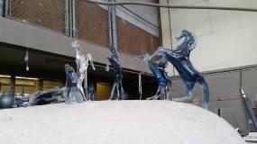 Glass horses at the studio