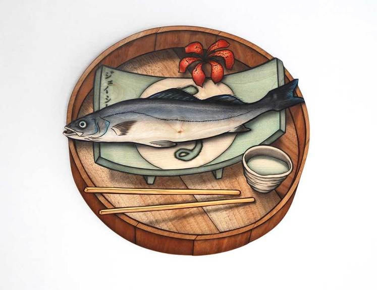 Taste of Fish, Sweet Smell of Blossom (This is Not Lunch tray series), 2006-2007