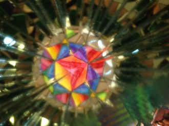 Van Nuys High School student kaleidoscope project.
