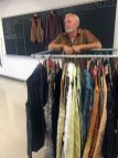Randall Darwall with examples of his finished clothing