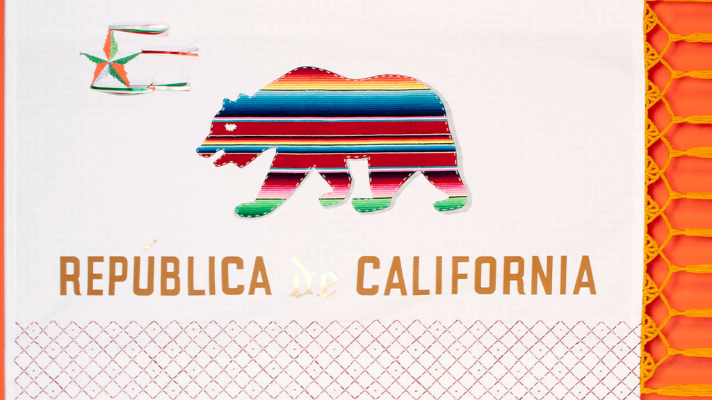 Victor De La Rosa, Future Flags of America: Study for 2035 CA Flag, 2013. Aimee Santos photograph