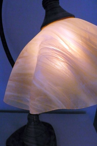 Clark Renfort, Swan table lamp (detail), 2015