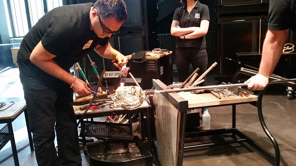 Jaime Guerrero at the Corning Museum of Glass. photo: Denise Kang