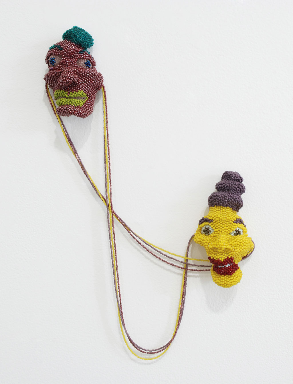 Teresa Sullivan, Bodyguards, 2015, woven glass beads, sculptural freeform peyote stitch and string bead