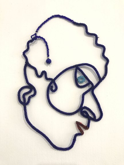 Joyce J. Scott, Blue Face, 2006
