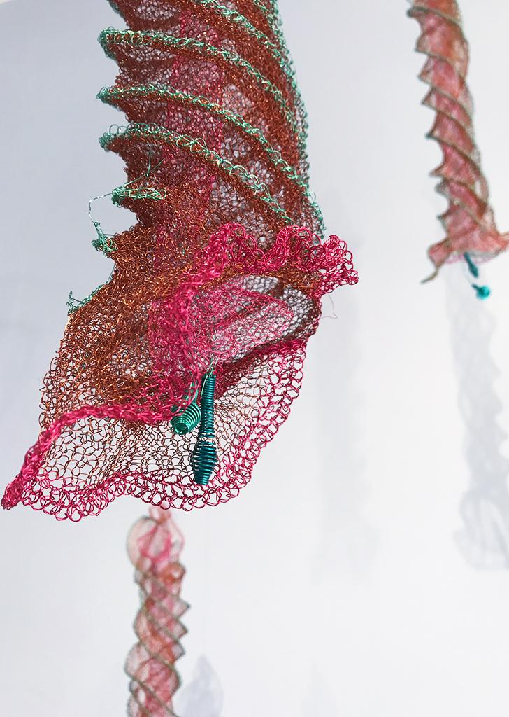 Arline Fisch, Spiral Jellies, 2008-2018, Aquatic Bloom, Craft in America