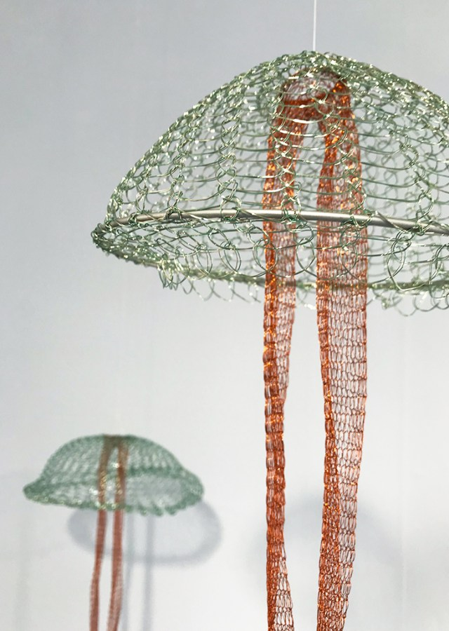 Arline Fisch, Moon Jelly Green, 2008-2018, Aquatic Bloom, Craft in America
