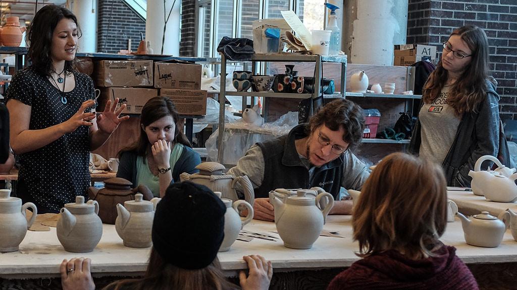 Matt Kelleher, Assistant Professor of Ceramic Arts at Alfred University, discusses his students' work