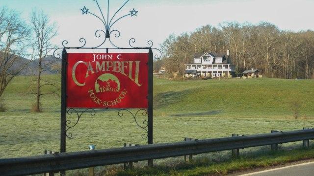 John C Campbell Folk School, sign