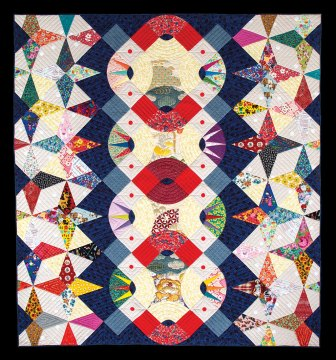 Victoria Findlay Wolfe, Texture, Travel, and Happiness: Life of Experiences and the Responsibilities of Dreams, 2018, Quilts