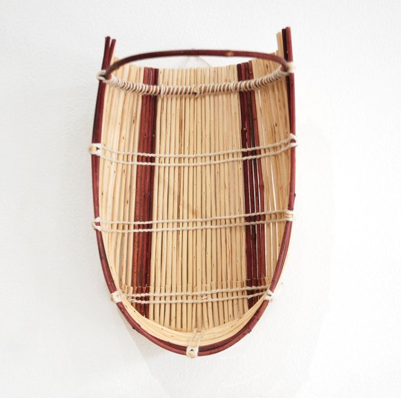 Corine Pearce, Cradle Basket, 2018, California, Rooted, Craft in America